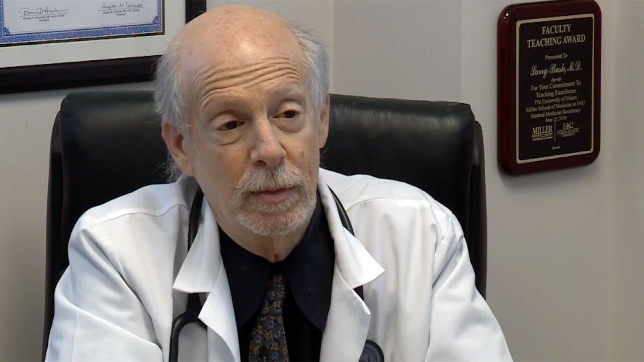 Dr. Larry Bush speaks about the delta variant on July 9, 2021
