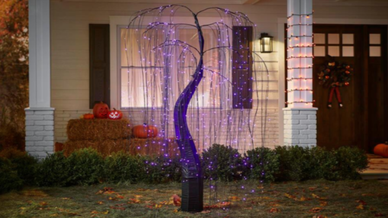 7-foot Lighted Purple Willow Tree Will Make Your Yard Stand Out For Halloween