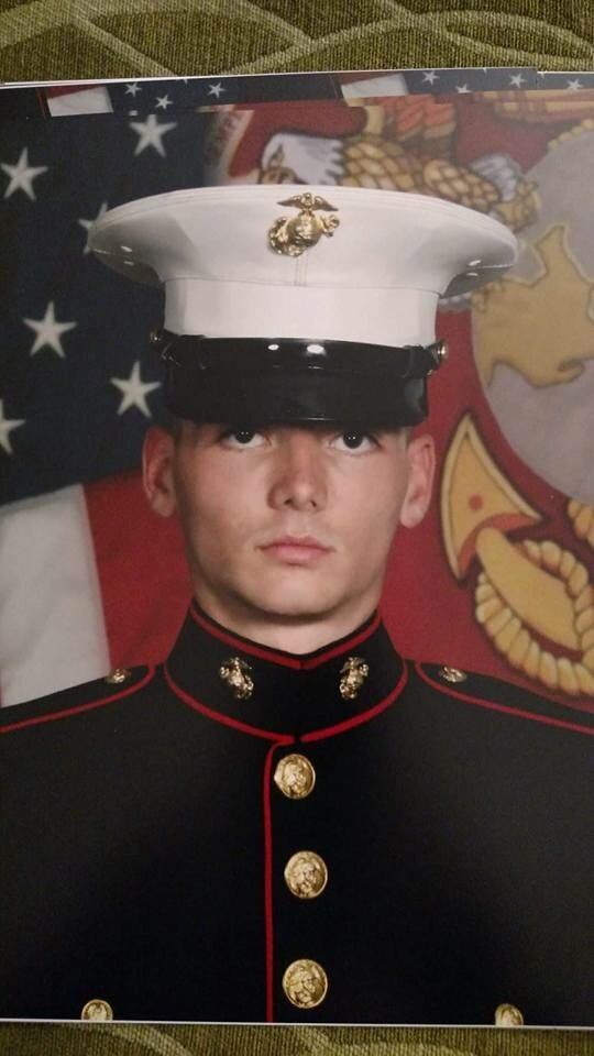Quentin Nace, US MARINE from Springport, Mich.