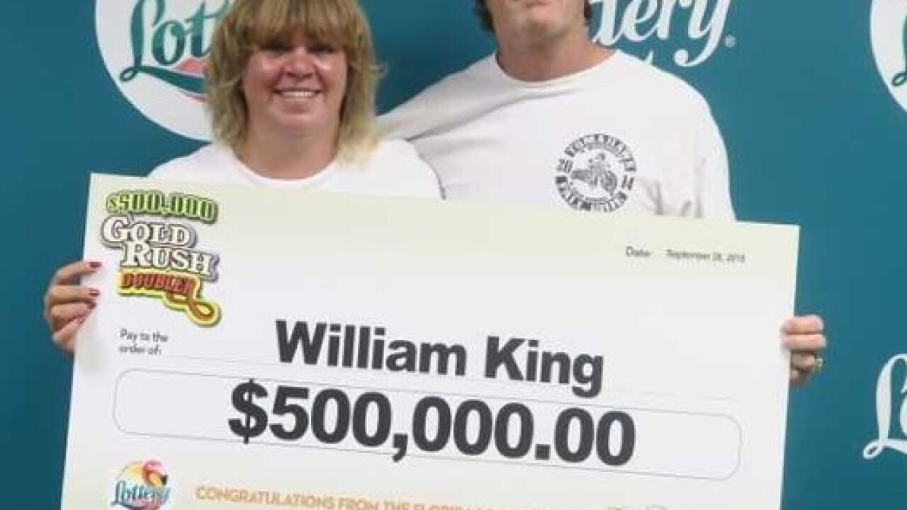 Naples man wins $500,000 on lottery ticket