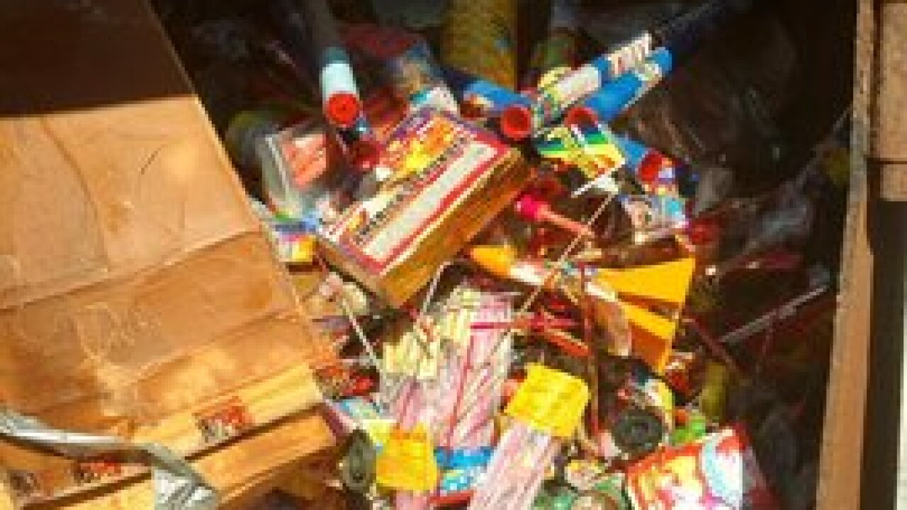 Omaha Police destroy fireworks collected