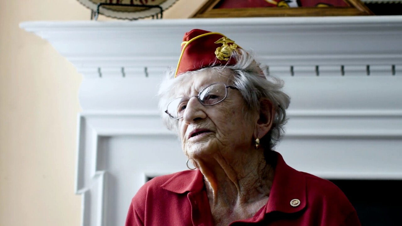 Oldest living U.S. Marine celebrates her 107th birthday