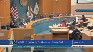 Palm Beach County commissioners discuss their latest response to the COVID-19 pandemic on April 27, 2021.jpg