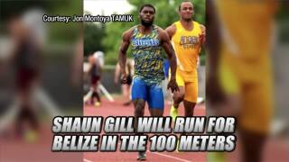 TAMUK's Shaun Gill will race for Belize in the 100 meters at the Olympics