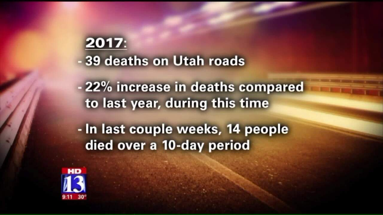 Experts say buckle up, avoid distractions as deaths increase on Utahroadways