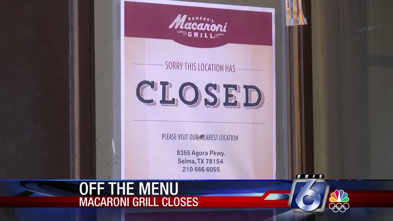 The Macaroni Grill on South Padre Island Drive is closing