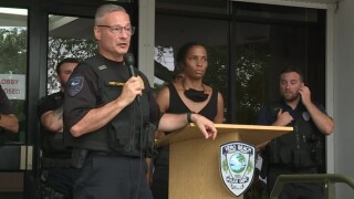 Vero Beach police held a unity event on June 4, 2020, on the steps of the police department.