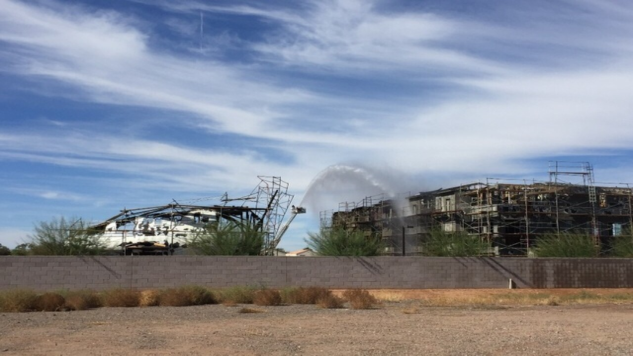 Flames, column of smoke spotted in Gilbert