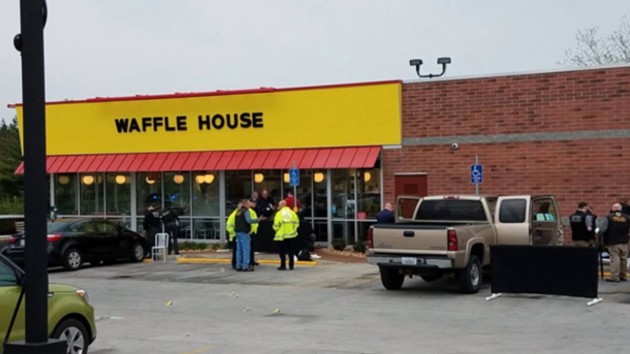 Multiple shots fired at Waffle House overnight, 1 person injured