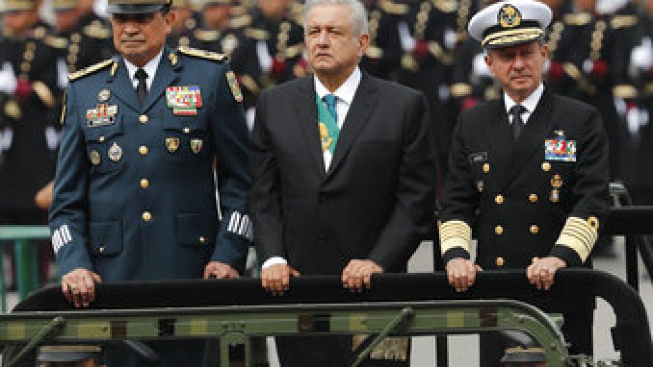 Mexico's military will take over the country's land and maritime ports of entry as President Andrés Manuel López Obrador tries to root corruption out of the country's customs offices. Photo/AP.
