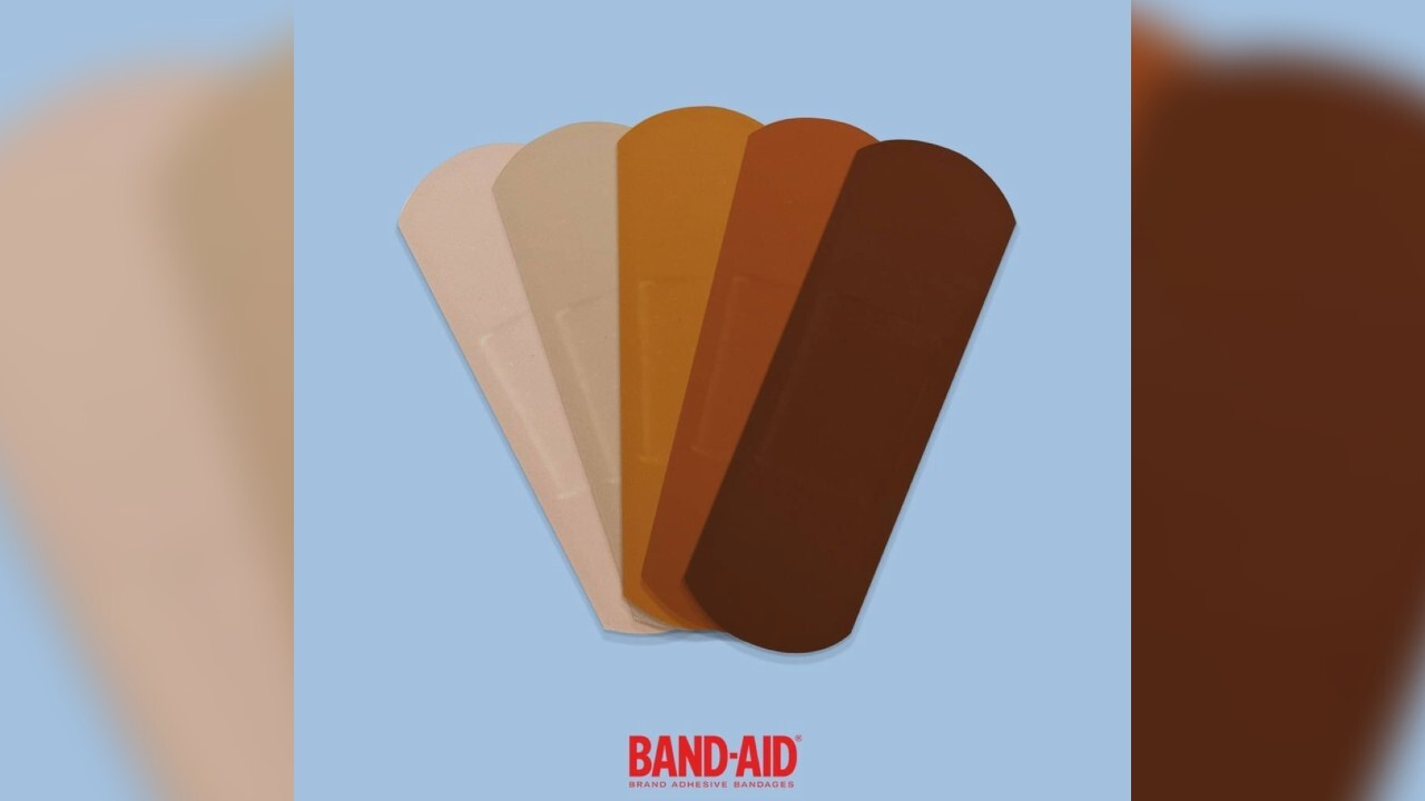 Band-Aid introducing bandages with black and brown skin tones, but they're not alone