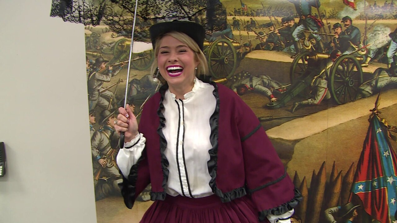 Nikki-Dee goes back in time at Pamplin Historical Park