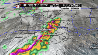 Showers/Storms Likely Thursday morning