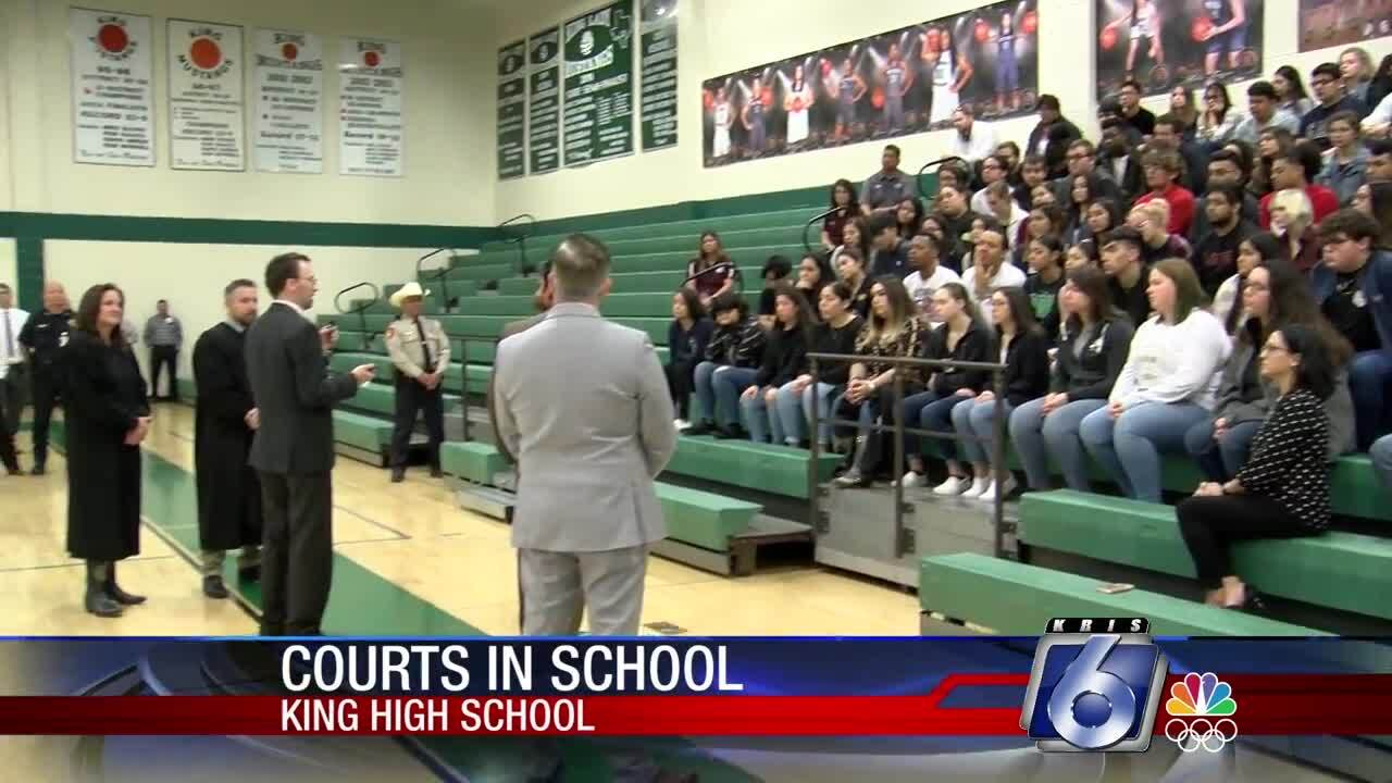 """""""Courts in School"""" at King High School"""
