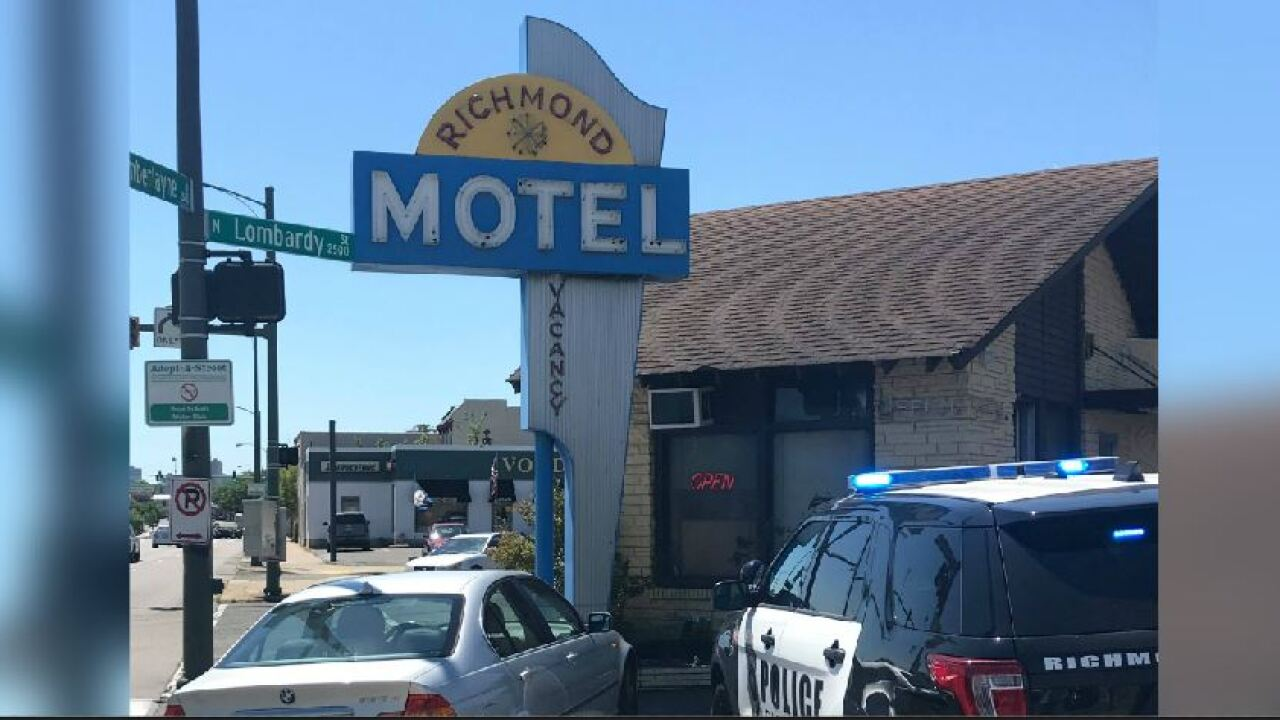 Search for Richmond motel shooter underway