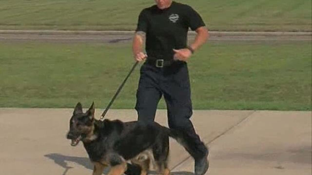 Four new K9 officers reporting for duty
