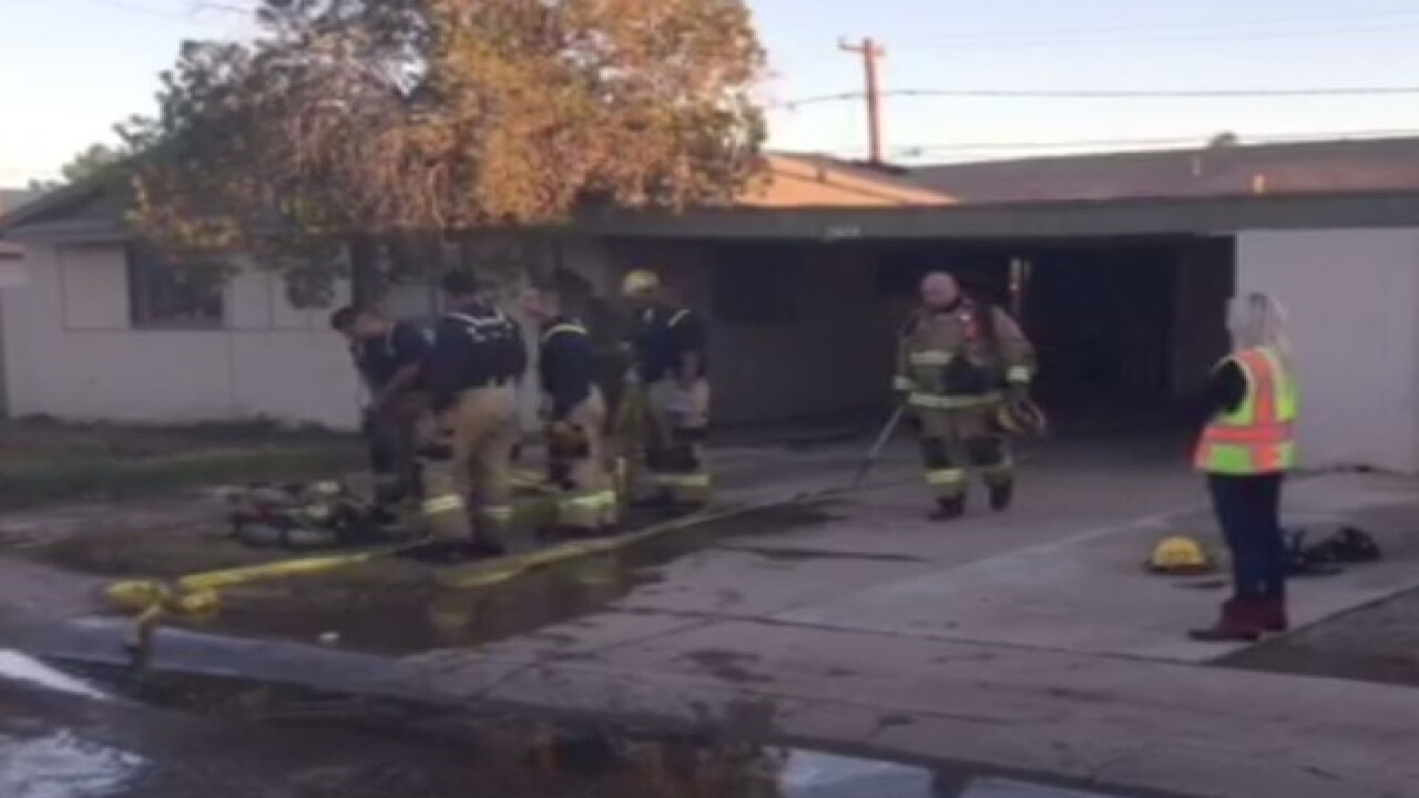 FD: Fire sparks at w. PHX home, no injuries