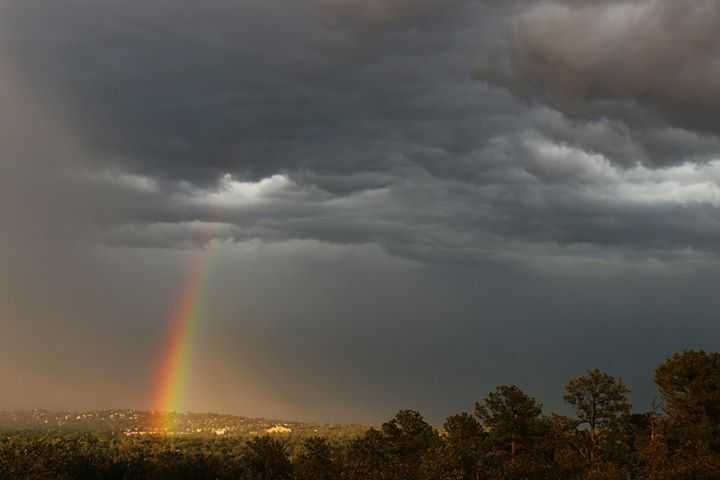Rainbow over Colorado Springs