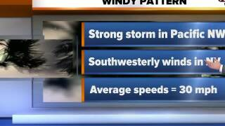 Windy weather on the way