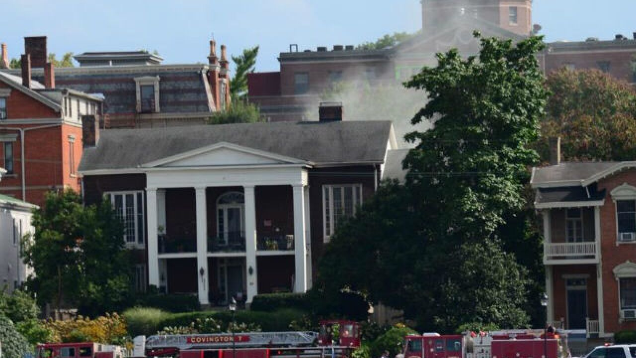 Arson suspected in mansion fire on Covington's historic riverfront