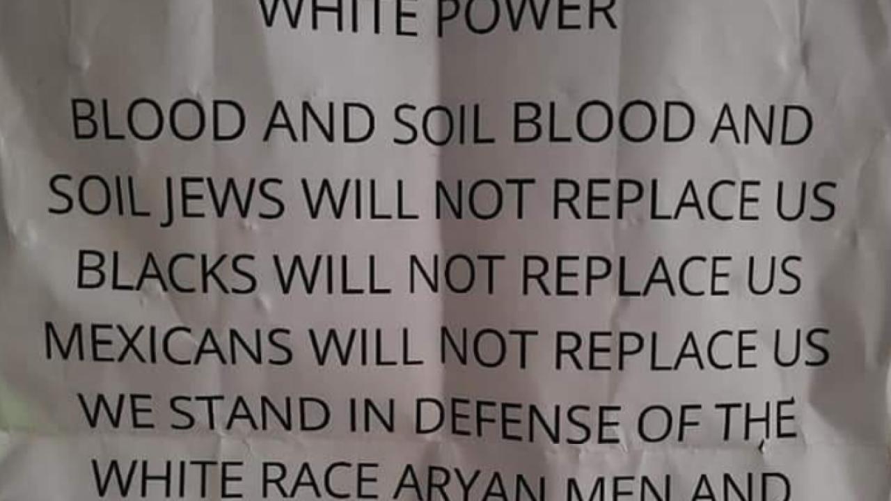 White power flyer
