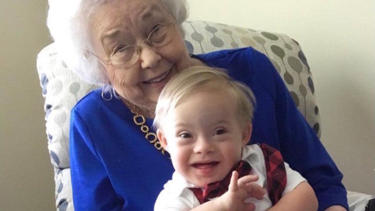 The very first Gerber baby met the first Gerber baby with Down syndrome in adorable photo
