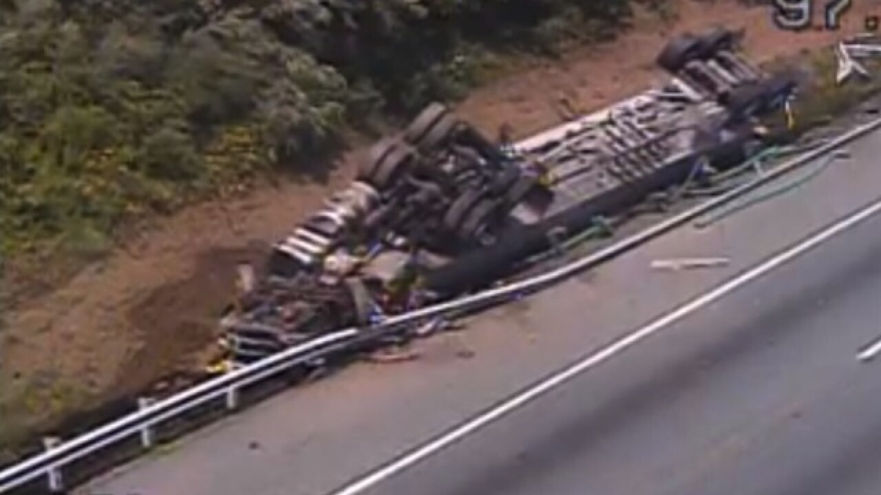 Tractor trailer driver dies in I-95 crash in Cecil County