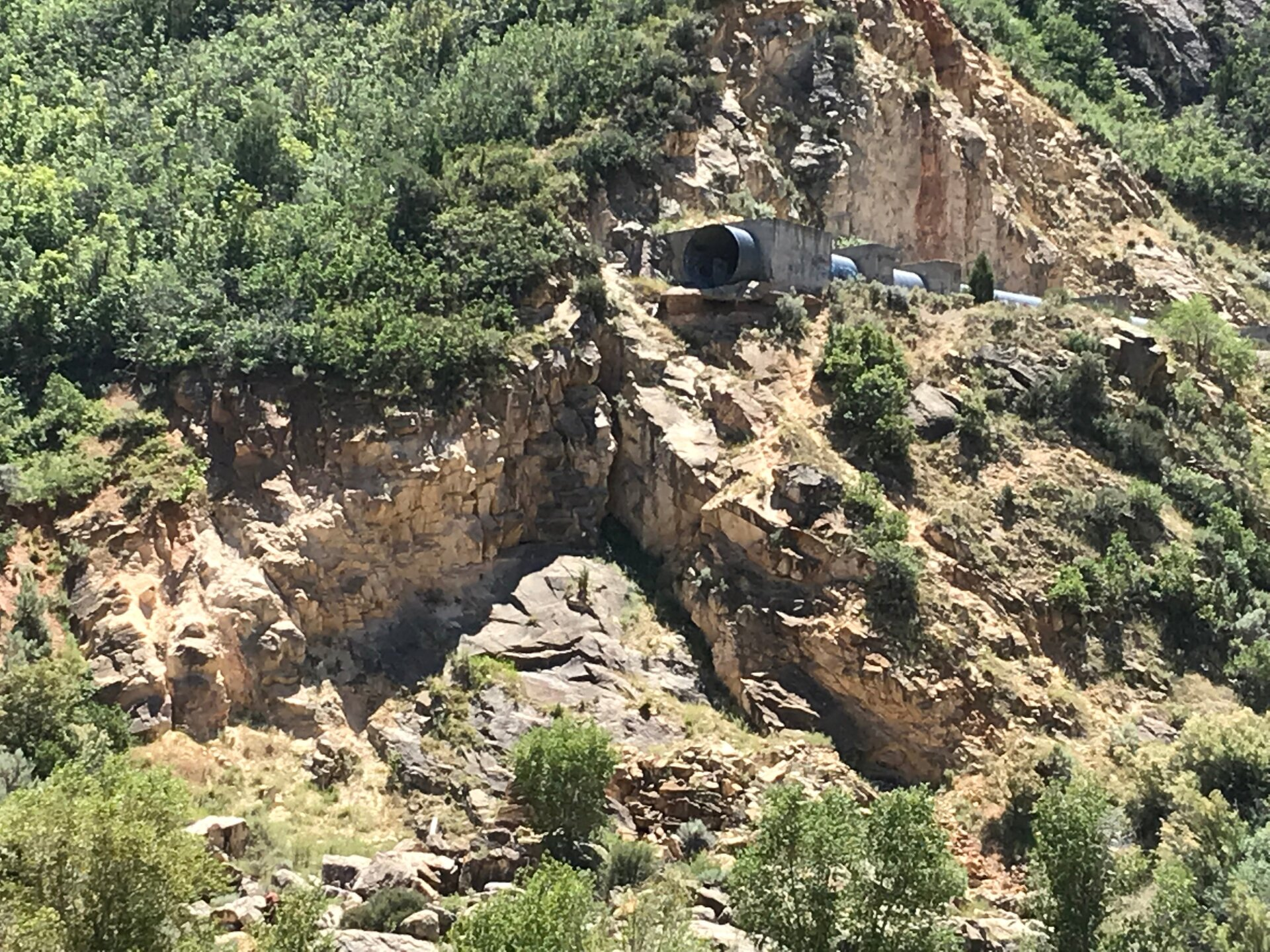 Photos: Man critically injured after falling 150 feet from drainage tunnel in Spanish Fork Canyon