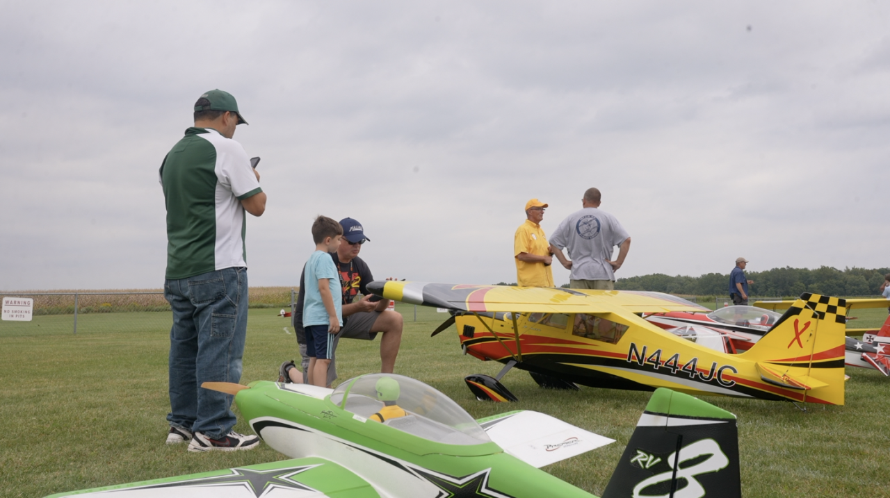 John Smith teaching the younger generation about RC planes