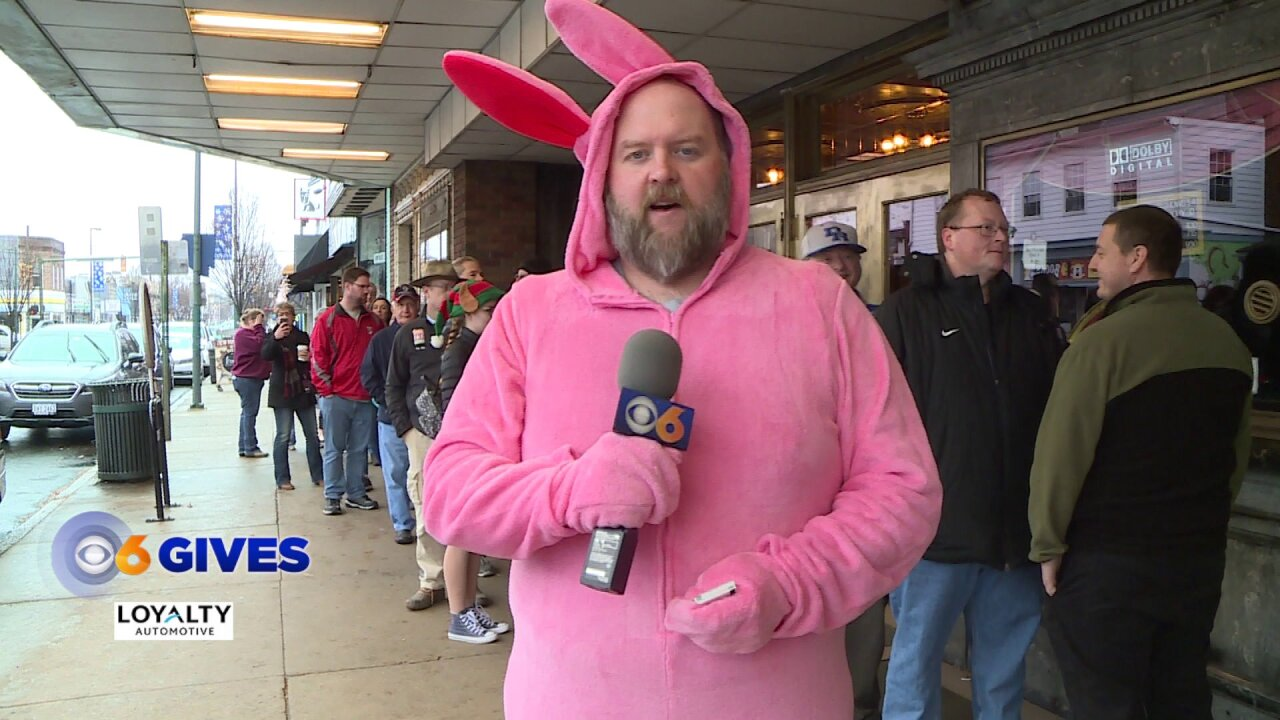 Why this giant pink bunny handed out free movie tickets at the ByrdTheatre