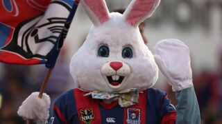 Easter Bunny gets involved in street fight, captured on video