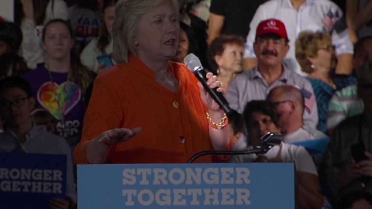 Orlando shooter's father attends Clinton rally