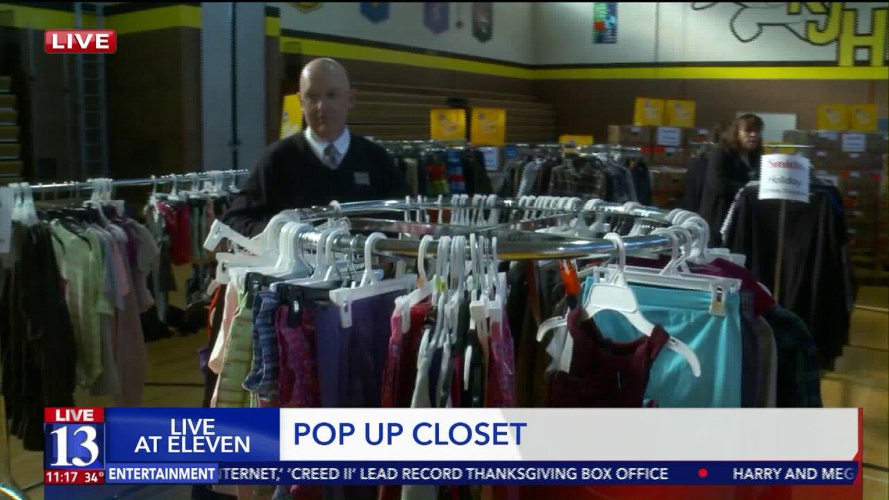 Pop up closet helps students, families in Granite SchoolDistrict