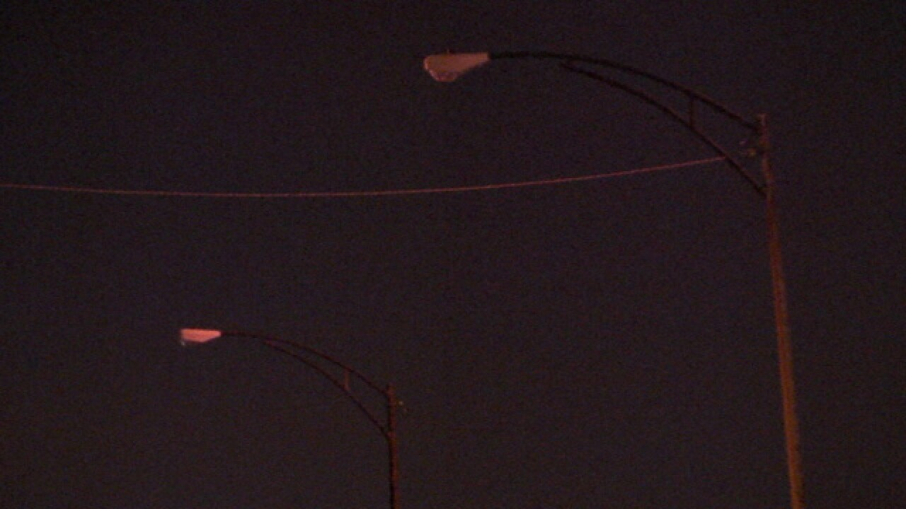 CLE residents worried about street light outage