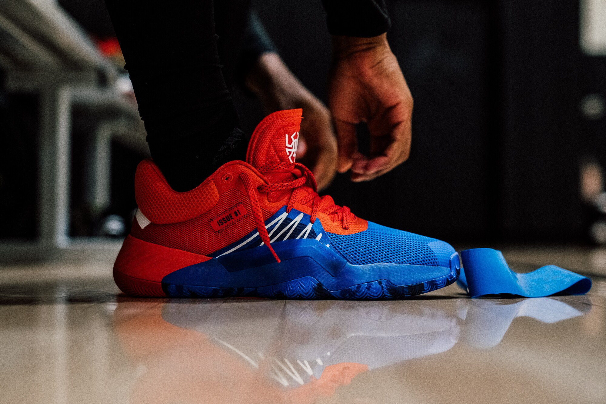 Photos: Donovan Mitchell debuts new Spider-Man inspired shoes fromAdidas