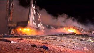 fiery crash car
