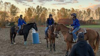 The Hopkins equestrian team prepares for state meet
