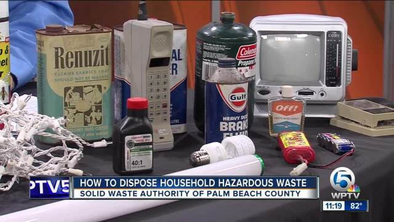 Advice on disposing of household hazardous waste