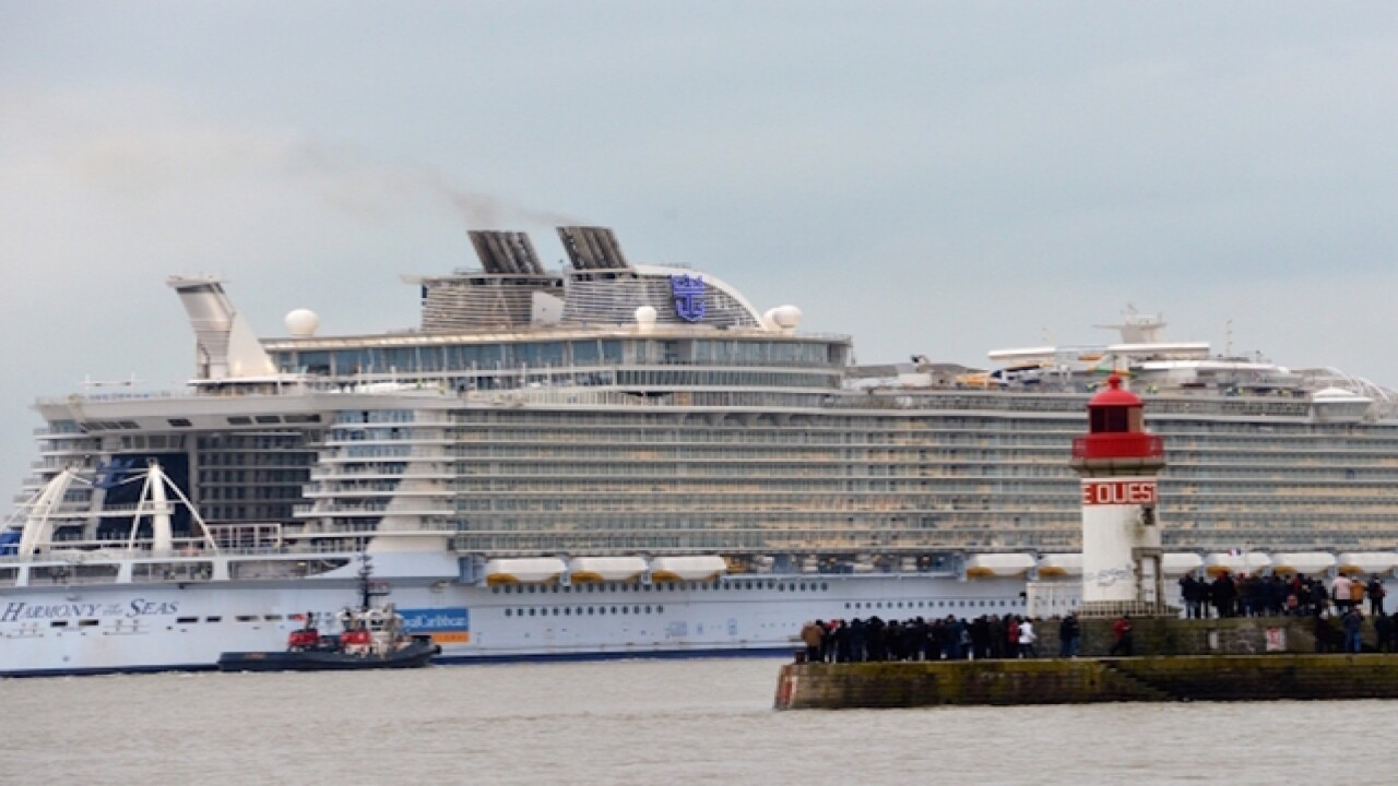World's largest ship sets sail