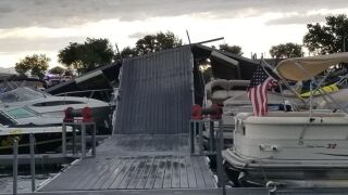 North Shore Marina damage