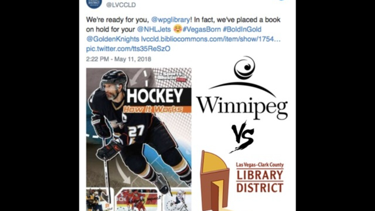 Vegas, Winnipeg libraries use Twitter trash talk to fuel playoff rivalry