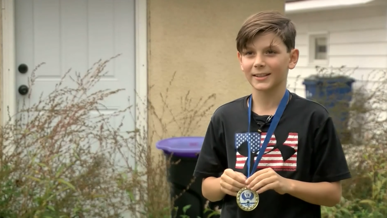 9-year-old in Minnesota accidentally wins 10K race