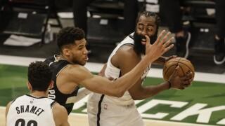 Nets Bucks Basketball