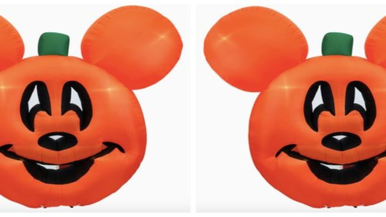 Decorate Your Yard For Halloween With Mickey Mouse Pumpkin Inflatables
