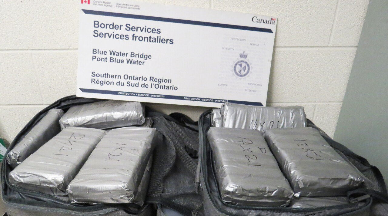 Blue Water Bridge CBSA border cocaine