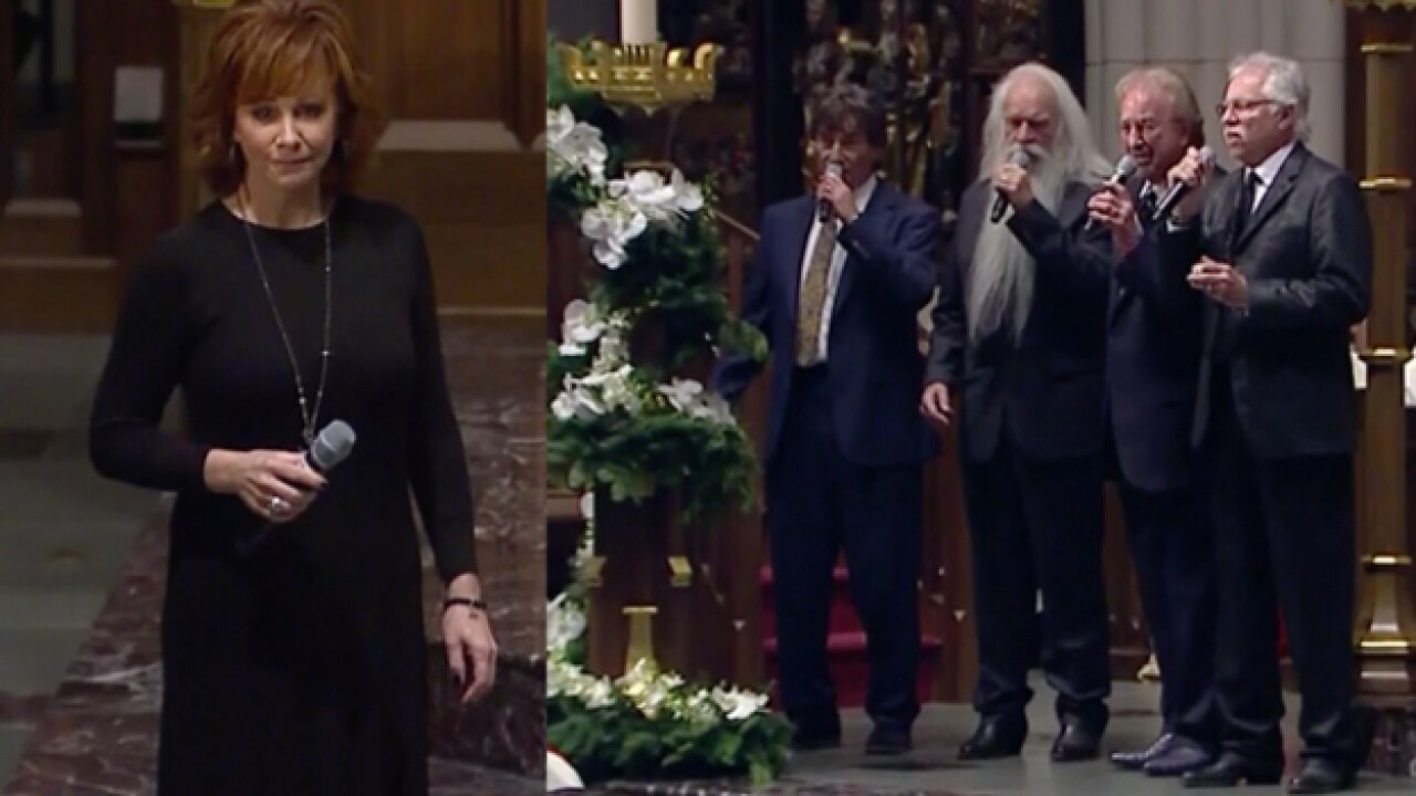 Reba, Oak Ridge Boys sing at funeral for George H.W. Bush