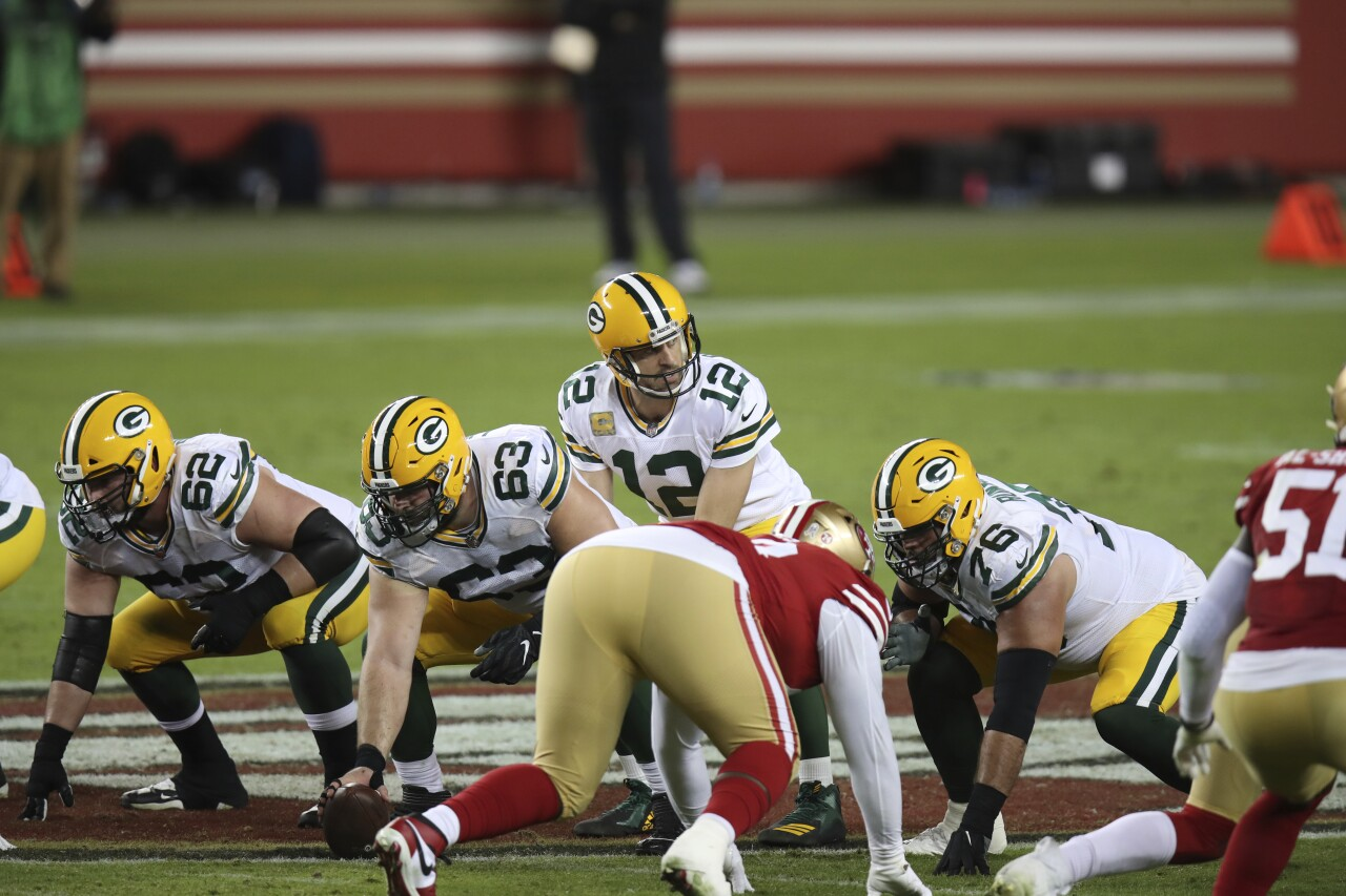 Green Bay Packers QB Aaron Rodgers vs. San Francisco 49ers in 2020