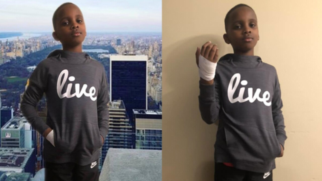 Boy dresses as James Shaw Jr. for 'Hero Day'