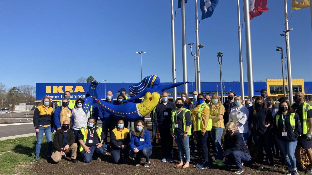 IKEA Norfolk co-workers with mermaid.png