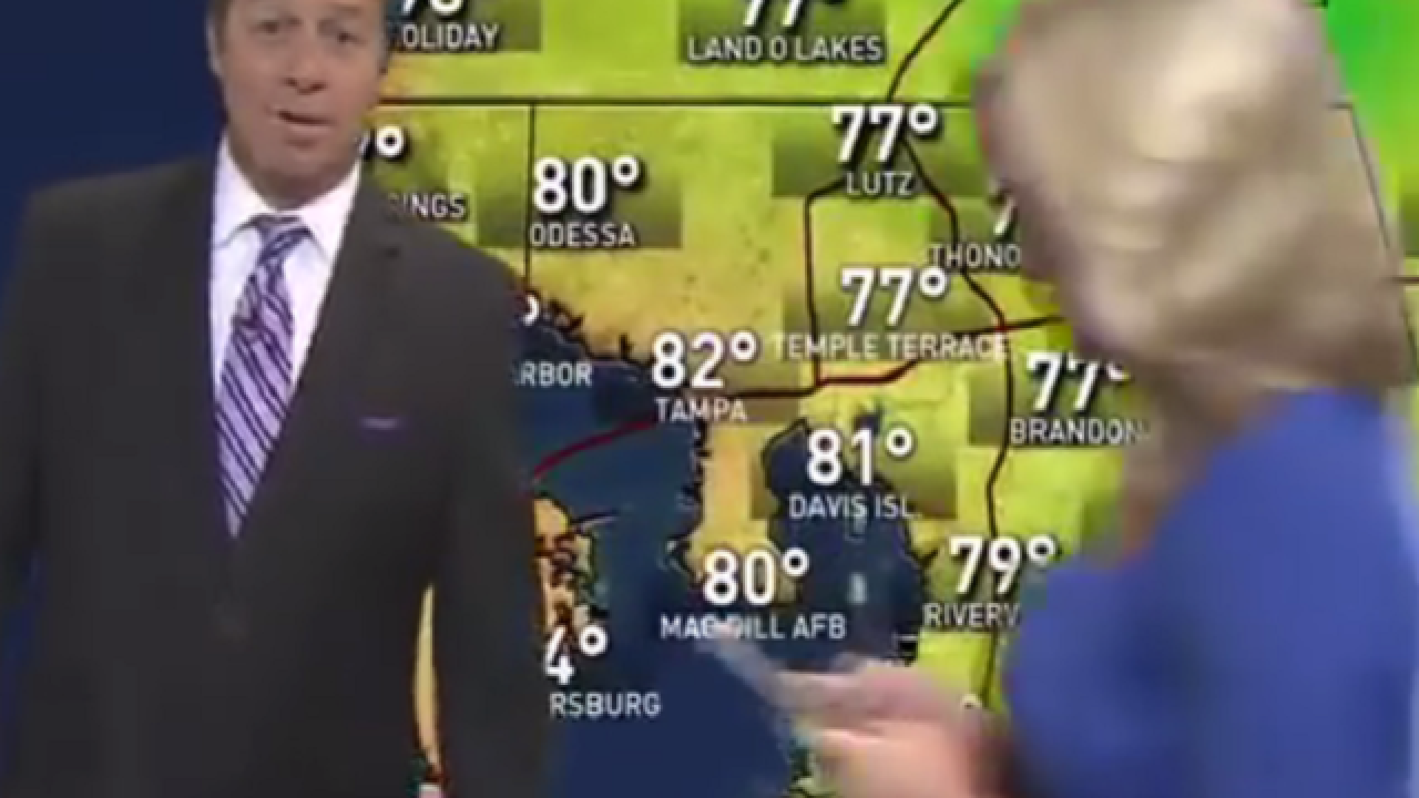 WATCH: Fla. weather report interrupted by anchor playing Pokemon Go